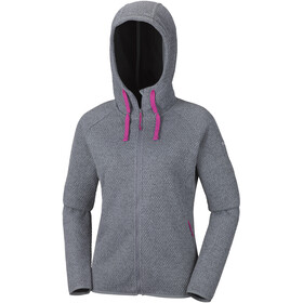 Columbia Pacific Point Sweat à capuche zippé Femme, grey ash heather/black